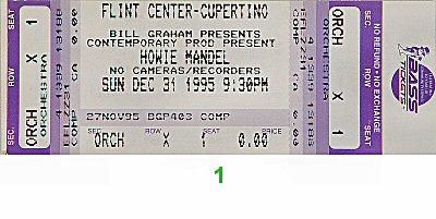 Howie Mandel 1990s Ticket from Flint Center on 31 Dec 95: Ticket One