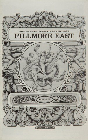 "Canned Heat Program from Fillmore East on 01 Aug 69: 5 1/2"" x 8 1/2"""