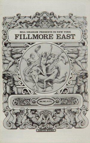 "Johnny Winter Program from Fillmore East on 14 Nov 69: 5 1/2"" x 8 1/2"""