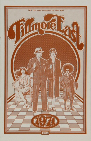 "Elton John Program from Fillmore East on 08 Apr 71: 5 1/2"" x 8 1/2"""