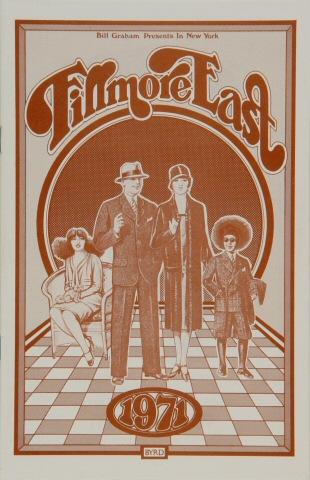 "Frank Zappa Program from Fillmore East on 05 Jun 71: 5 1/2"" x 8 1/2"""