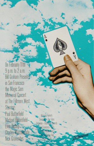 """Paul Butterfield Handbill from Fillmore West on 11 Feb 70: 5 1/2"""" x 8 1/2"""""""