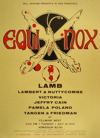 """Lamb Poster from Fillmore West on 21 Jul 70: 17 1/2"""" x 24"""""""