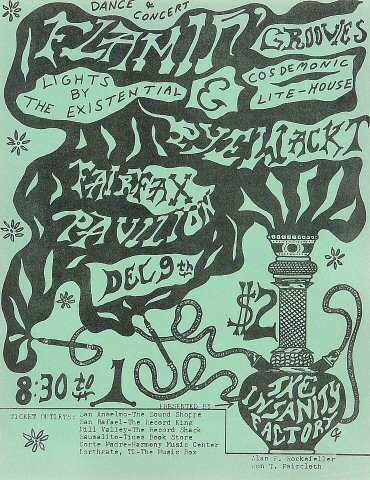 "The Flamin' Groovies Handbill from Fairfax Pavilion on 09 Dec 67: 8 1/2"" x 11"""