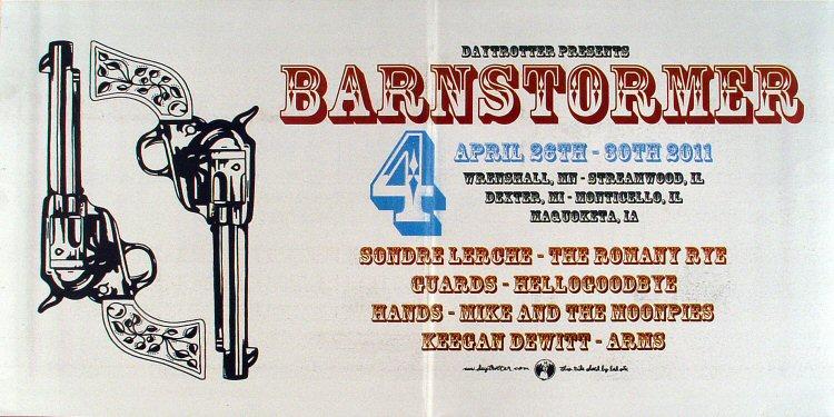 "Sondre Lerche Poster from Free Range Film Festival Barn on 26 Apr 11: 11"" x 22"""