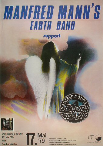 "Manfred Mann's Earth Band Poster from Festhalle on 17 May 79: 23 1/4"" x 33"""