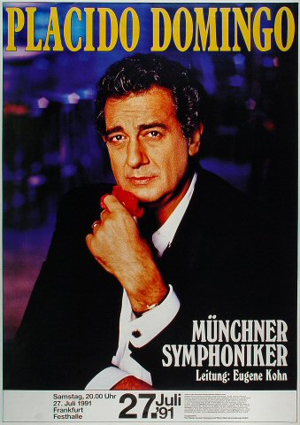 "Placido Domingo Poster from Festhalle on 27 Jul 91: 23 3/8"" x 33"""