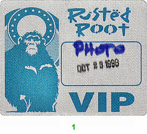 Rusted Root Backstage Pass from Fairfield University on 23 Oct 98: Pass 1