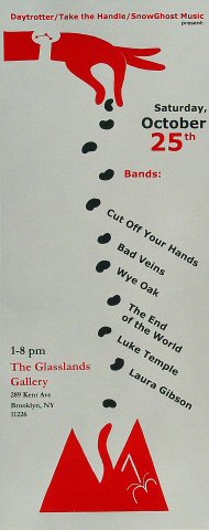 "Cut Off Your Hands Poster from Glasslands Gallery on 25 Oct 08: 7 1/8"" x 18"""