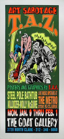 "Steel Pole Bath Tub Poster from Goat Gallery on 09 Jan 95: 15"" x 32 1/2"""