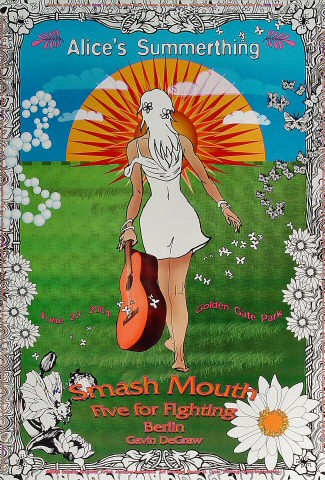 "Smash Mouth Poster from Golden Gate Park on 20 Jun 04: 13"" x 19"""