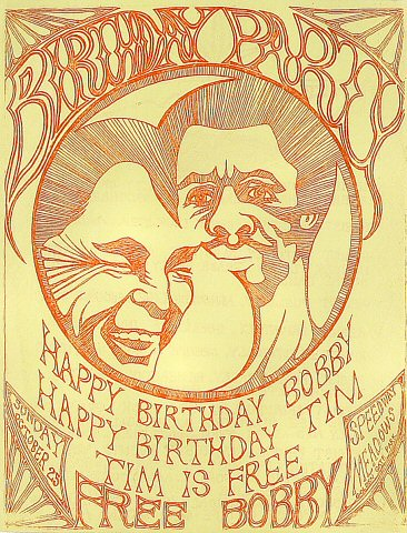 "Birthday Party Handbill from Golden Gate Park on 25 Oct 70: 8 1/2"" x 11"""