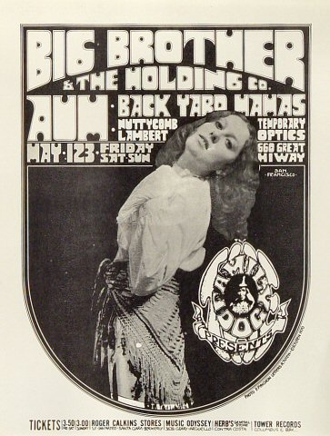 "Big Brother and the Holding Company Handbill from Great Highway on 01 May 70: 8 1/2"" x 11"""