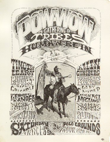 "Allen Ginsberg Handbill from Polo Fields, Golden Gate Park on 14 Jan 67: 8 1/2"" x 11"""