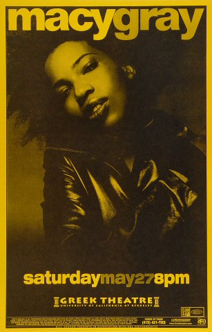 "Macy Gray Poster from Greek Theatre on 27 May 00: 11"" x 17"""