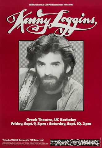 "Kenny Loggins Poster from Greek Theatre on 09 Sep 83: 14 1/2"" x 21"""