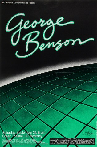 "George Benson Poster from Greek Theatre on 24 Sep 83: 14 1/2"" x 22"""