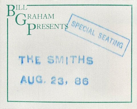 The Smiths Backstage Pass from Greek Theatre on 23 Aug 86: Pass 1