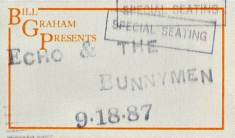 Echo & the Bunnymen Backstage Pass from Greek Theatre on 18 Sep 87: Pass 1