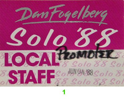 Dan Fogelberg Backstage Pass from Greek Theatre on 04 Jun 88: Pass 1