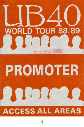 UB40 Backstage Pass from Greek Theatre on 04 Sep 88: Pass 1