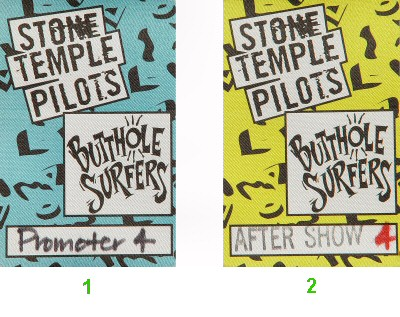 Stone Temple Pilots Backstage Pass from Greek Theatre on 04 Jul 93: Pass 2