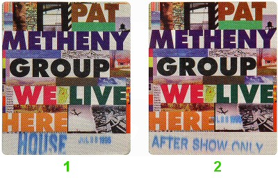 Pat Metheny Group Backstage Pass from Greek Theatre on 28 Jul 95: Pass 1
