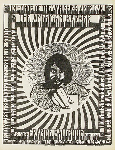 "Jagged Edge Handbill from Grande Ballroom on 21 Apr 67: 8 1/2"" x 11"""