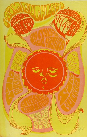 "Tim Buckley Poster from Grande Ballroom on 21 Jul 67: 10 5/8"" x 16 5/8"""