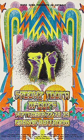 "Spooky Tooth Postcard from Grande Ballroom on 27 Sep 68: 4 3/16"" x 6 7/8"""