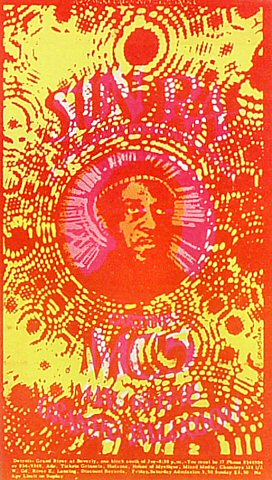 "Sun Ra Postcard from Grande Ballroom on 16 May 69: 4"" x 6 7/8"""