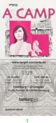 A Camp Post 2000 Ticket from Grunspan on 07 Oct 01: Ticket One