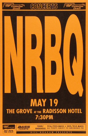 "NRBQ Poster from Grove at the Radisson on 19 May 94: 11"" x 17"""