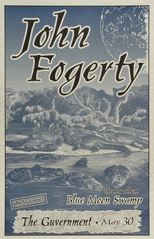 John Fogerty Poster from Guvernment on 30 May 97: 10 3/4&quot; x 16 5/8&quot;