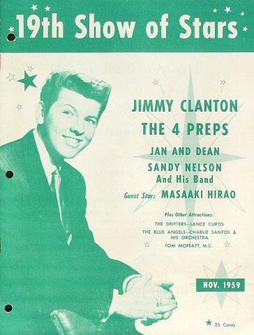 "Jimmy Clanton Program from Hilo Civic Auditorium on 27 Nov 59: 8"" x 10 5/8"""