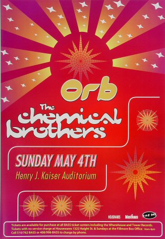 "The Orb Poster from Henry J. Kaiser Auditorium on 04 May 97: 13 1/4"" x 19 1/4"""