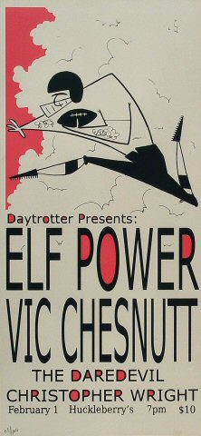 "Elf Power Poster from Huckleberry's Pizza Parlor on 01 Feb 09: 8 3/8"" x 18"""