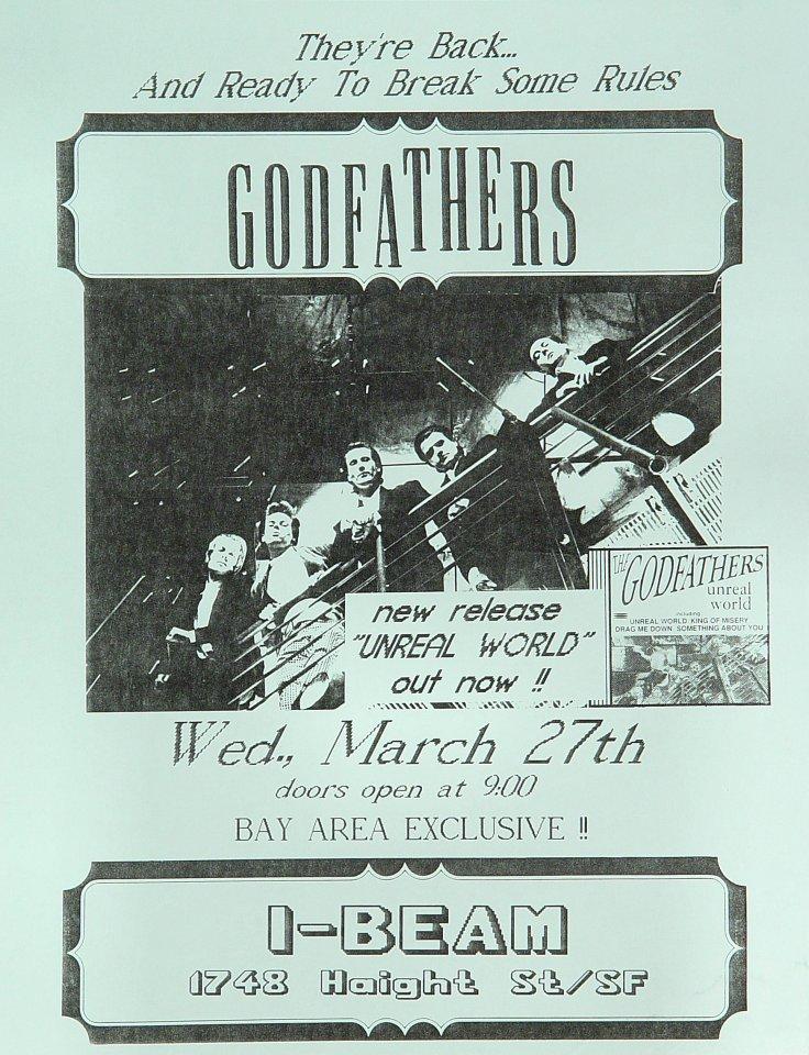 """The Godfathers Handbill from I-Beam on 27 Mar 85: 8 1/2"""" x 11"""""""
