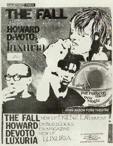 "The Fall Handbill from John Anson Ford Theatre on 27 May 88: 8 1/2"" x 11"""