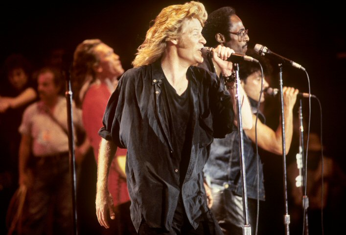 Daryl Hall BG Archives Print from JFK Stadium on 13 Jul 85: 16x20 C-Print