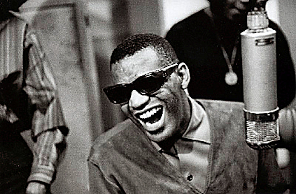 Ray Charles Fine Art Print from Atlantic Records Studio : 16x20 SG Matted & Signed