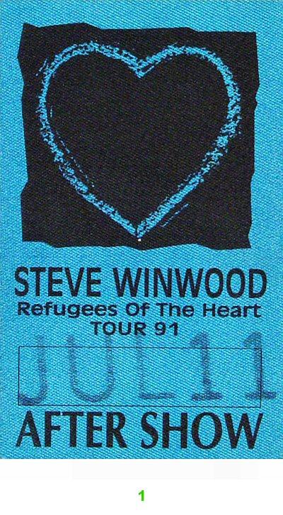 Steve Winwood Backstage Pass from Jones Beach on 11 Jul 91: Pass 1