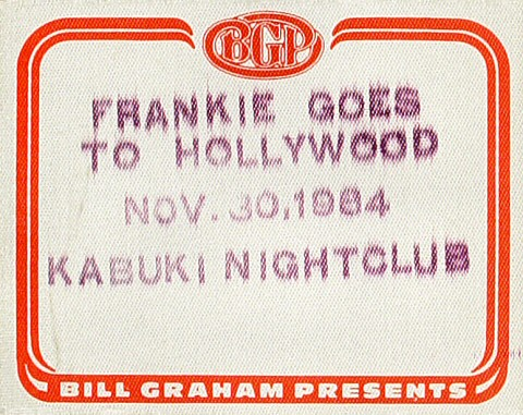 Frankie Goes to Hollywood Backstage Pass from Kabuki Theatre on 30 Nov 84: Pass 1