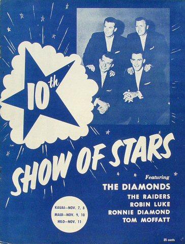 "The Diamonds Program from Kauai Theatre on 07 Nov 58: 8"" x 10 5/8"""