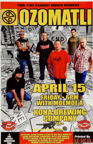 "Ozomatli Poster from Kona Brewing Company on 15 Apr 05: 11"" x 17"""