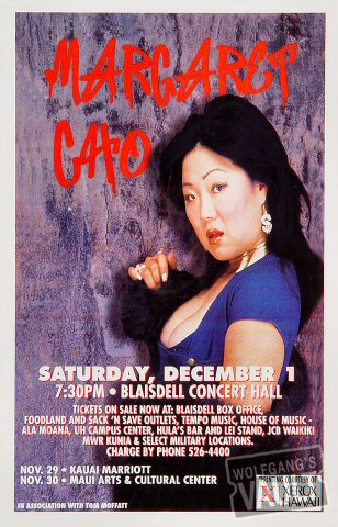 "Margaret Cho Handbill from Kauai Marriott Ballroom on 29 Nov 01: 5 1/2"" x 8 1/2"""