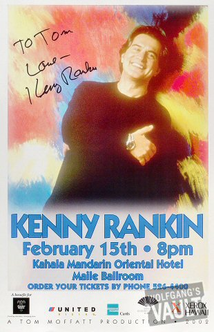 "Kenny Rankin Poster from Kahala Mandarin Oriental Hotel on 15 Feb 02: 11"" x 17"""
