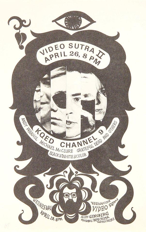 "Andy Warhol Handbill from KQED on 26 Apr 67: 7"" x 11"""