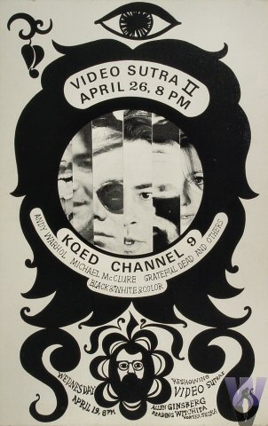 """Andy Warhol Poster from KQED on 26 Apr 67: 14"""" x 22"""""""