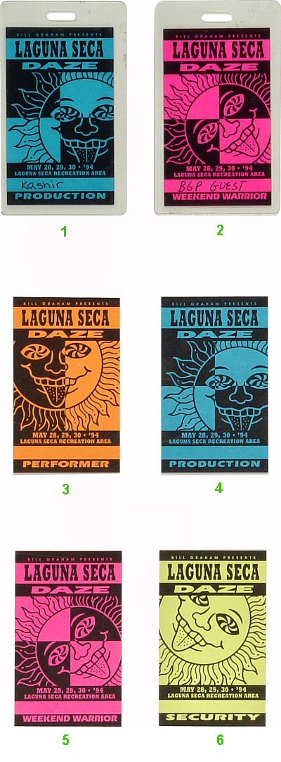Phish Laminate from Laguna Seca Raceway on 28 May 94: Laminate 6